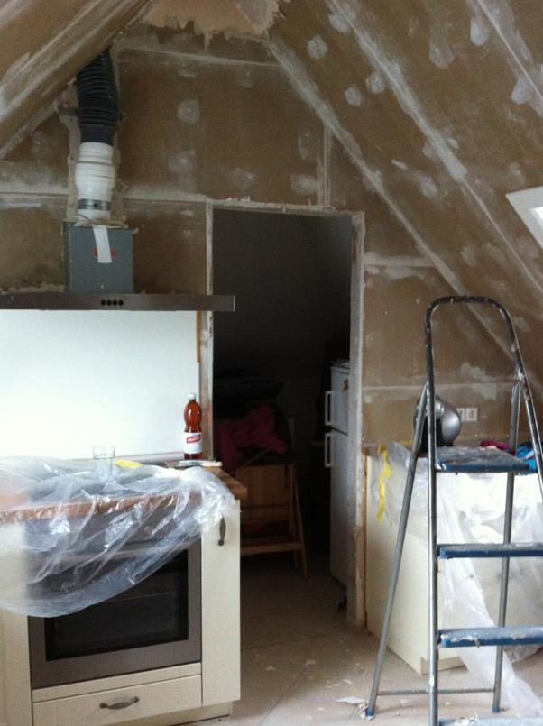 küche dachgeschosswohnung