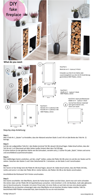 diy kaminkonsole selbst bauen design dots. Black Bedroom Furniture Sets. Home Design Ideas