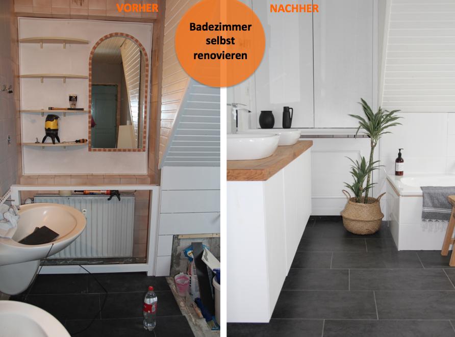 Fußboden Bad Erneuern ~ Badezimmer selbst renovieren vorher nachher u design dots