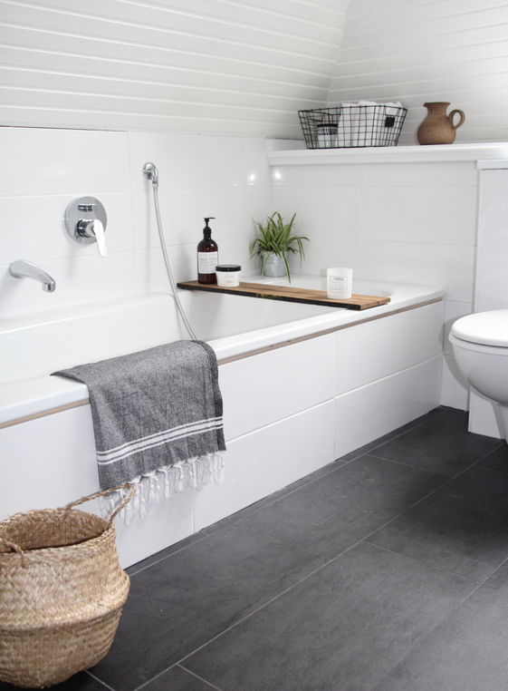 Dusche Renovieren Wand : Grey Bathroom Floor Tiles