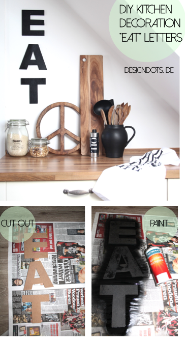 DIY kitchen decoration letters EAT