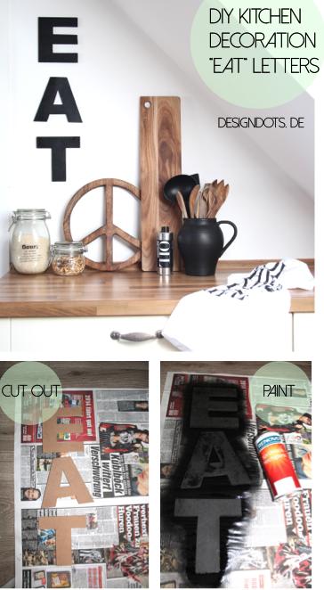 DIY Kitchen Decoration Letters EAT