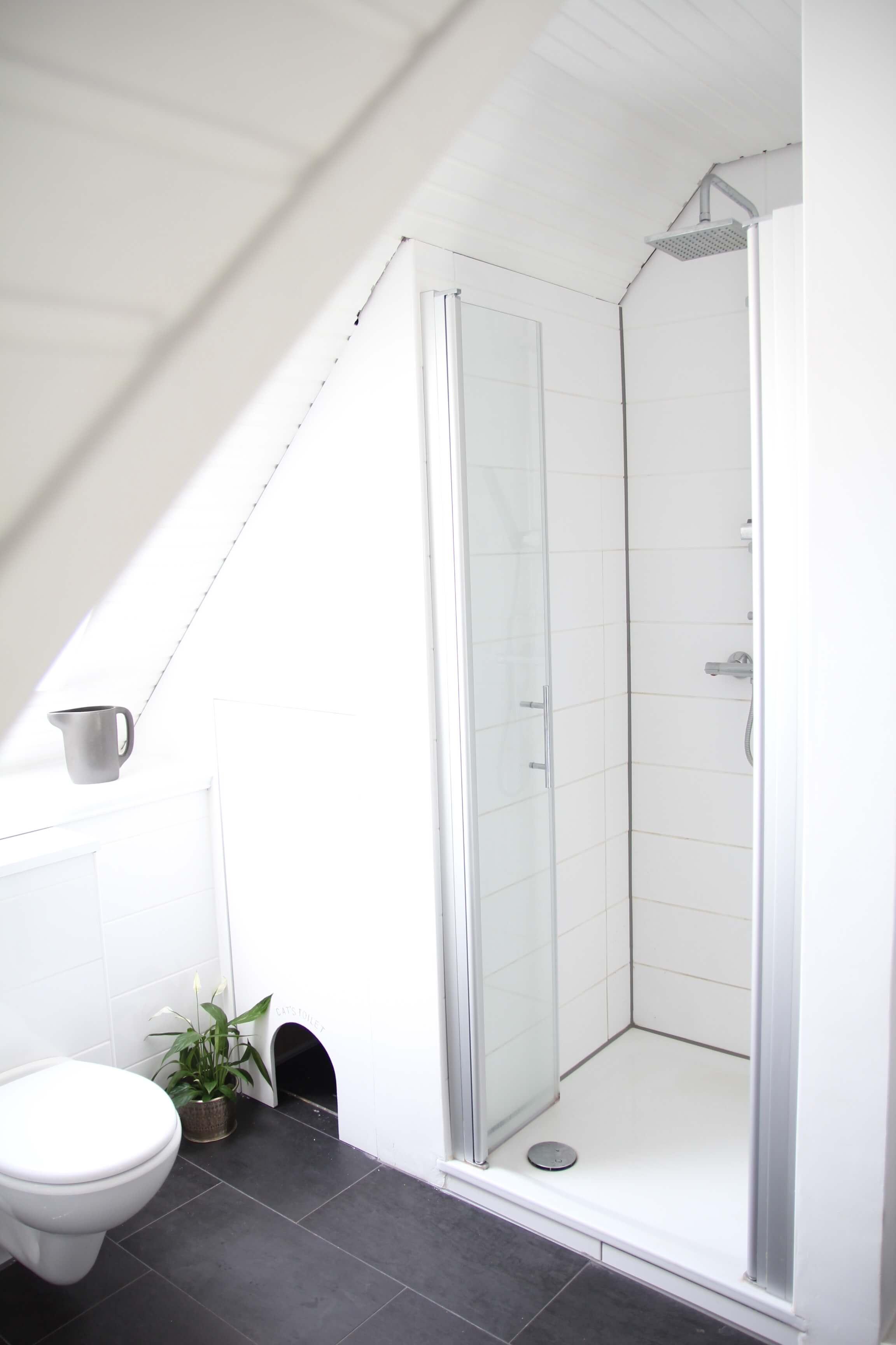 Badezimmer Dachgeschoss Dachschräge Einrichten Design Dots