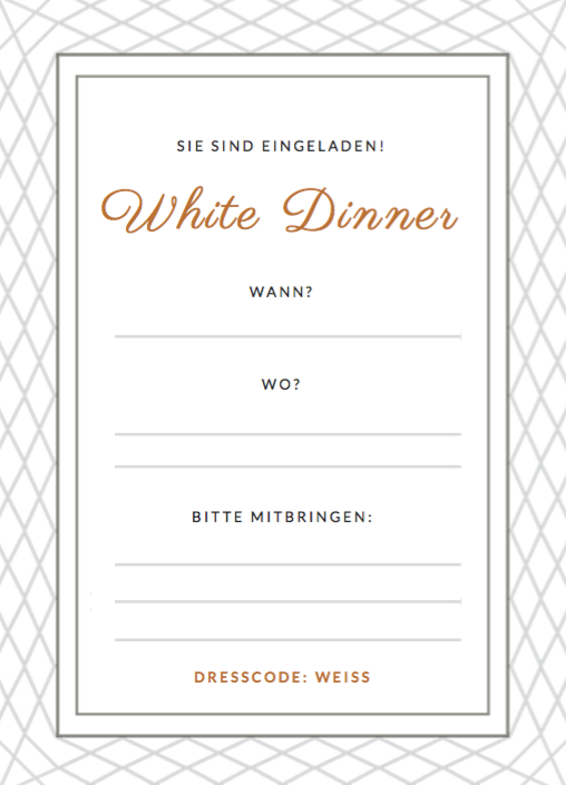 white dinner einladung