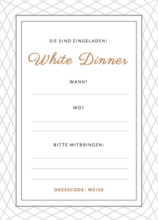 white dinner einladung