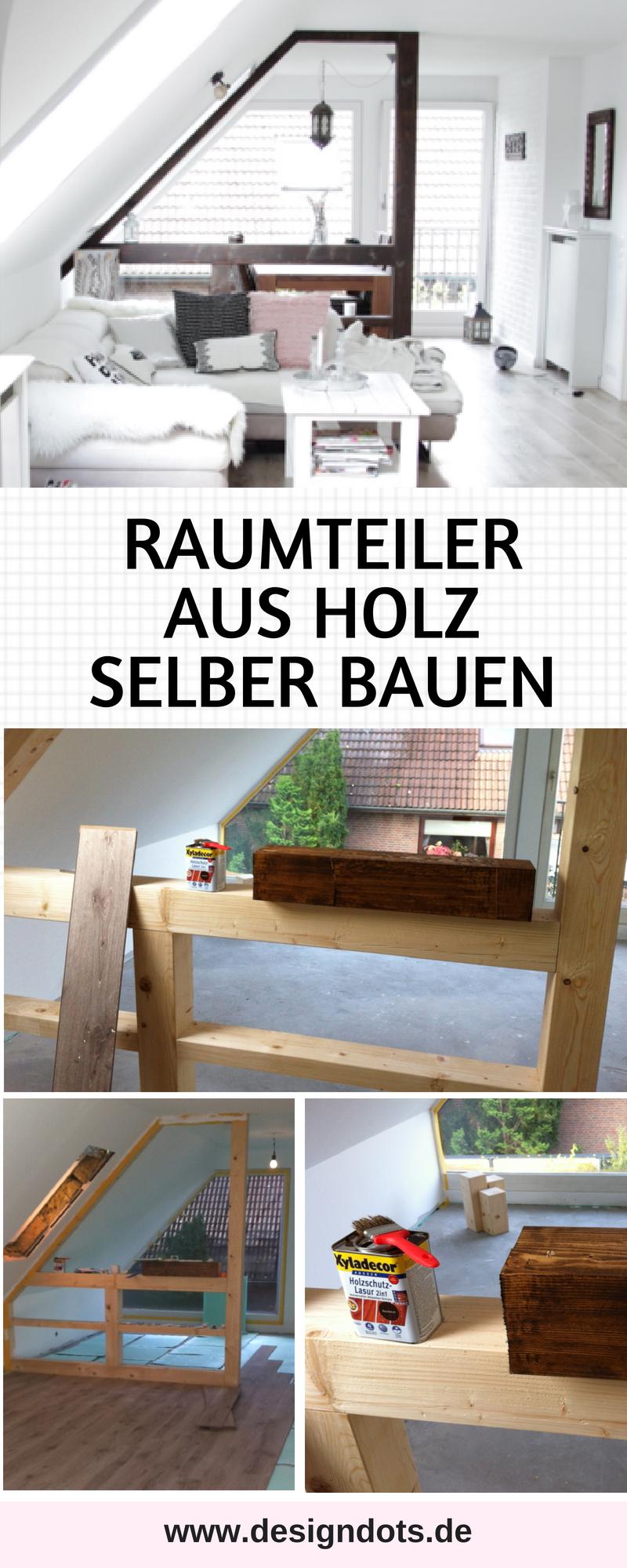 Raumteiler Holz Fachwerkoptik Selbst Bauen Design Dots