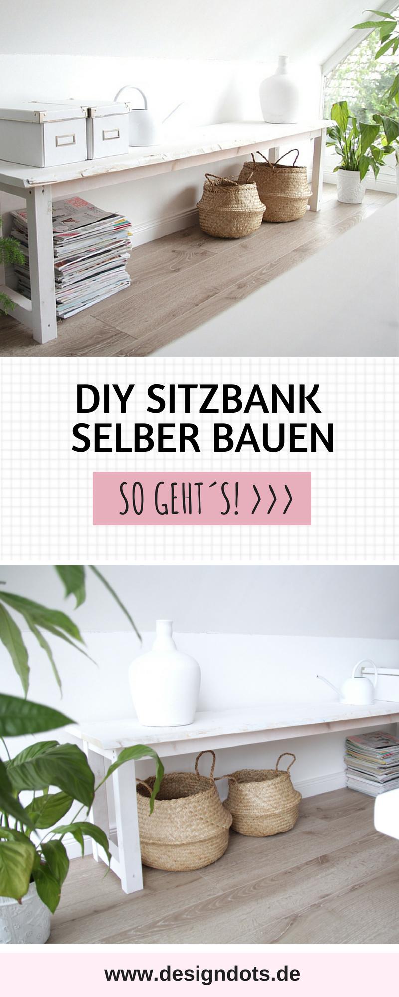Beliebt DIY Sitzbank selber bauen Anleitung - DESIGN DOTS UI12
